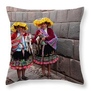 Peruvian Native Costumes  Throw Pillow