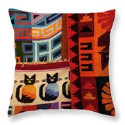 Peruvian Tapestries  Throw Pillow