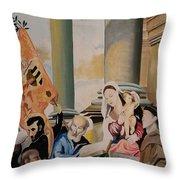 Pesaro Madonna Throw Pillow