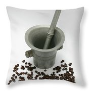 Pestle And Mortar  Throw Pillow