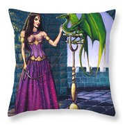 Pet Dragon Throw Pillow