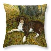 Pet Portrait - Springer Spaniel, Milly Throw Pillow