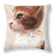 Pet Portrait Throw Pillow