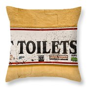 Pet Toilets Throw Pillow