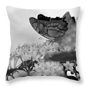 Petal Perch Throw Pillow