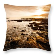 Petal Point Ocean Sunrise Throw Pillow