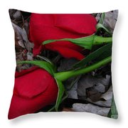 Petals And Leafs Throw Pillow