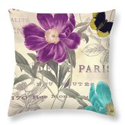 Petals Of Paris II Throw Pillow