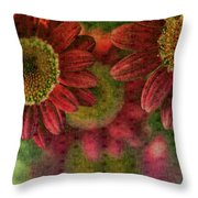 Petals On Parade Throw Pillow