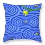 Petals On Water IIi Throw Pillow