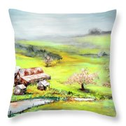 Petaluma Fogbreak Throw Pillow