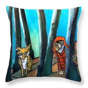 Peter And The Wolf Throw Pillow