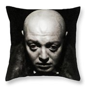 Peter Lorre, Vintage Actor Throw Pillow