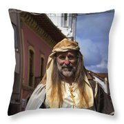 Peter On Horseback In The Pase Del Nino Throw Pillow