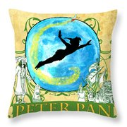 Peter Pan Tribute Throw Pillow