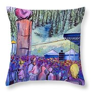 Peter Rowen At Copper Mountain Throw Pillow