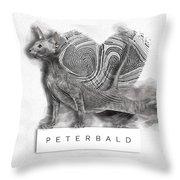 Peterbald Kitten 01 Throw Pillow