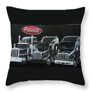 Peterbilt Trucks Throw Pillow