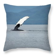 Petersburg Ak Whale Fin Throw Pillow