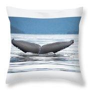 Petersburg Ak Whale Tale 2 Throw Pillow