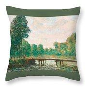 Petit Pont Sur L'orvanne Throw Pillow