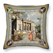 Petit Trianon Medallions Throw Pillow