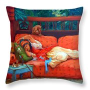 Petite Somme After A. Bridgman Throw Pillow