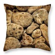 Petoskey Stones Vlll Throw Pillow