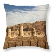 Petra Sky Throw Pillow