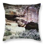 Petra, Transjordan: Cave Throw Pillow
