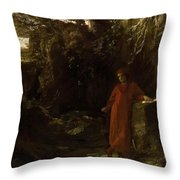 Petrarch By The Fountain Of Vaucluse Throw Pillow