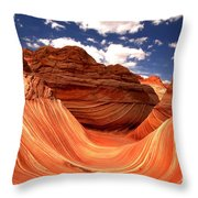 Petrified Dunes Landscape Throw Pillow