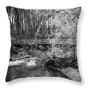 Petrifying Springs Park Bridge  Throw Pillow