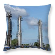 Petrochemical Plant Refinery Industry Zone Throw Pillow