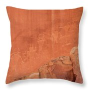 Petroglyphs In Capital Reef Throw Pillow