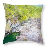 Petrohue River In Vicente Perez Rosales National Park Near Puerto Montt-chile Throw Pillow