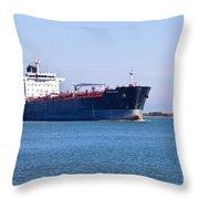 Petroleum Tanker En Route Throw Pillow
