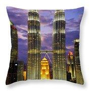 Petronas Towers Throw Pillow