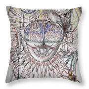 Pets Pause Drawing Throw Pillow