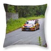 Petter Solberg/chris Patterson Throw Pillow