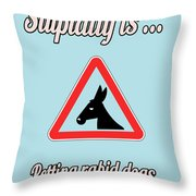 Petting Bigstock Donkey 171252860 Throw Pillow