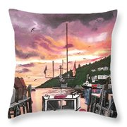 Petty Harbour Throw Pillow by Sharon Duguay