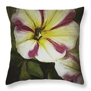 Petunia Sketch Throw Pillow