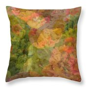 Petunias And Lantana Collage Throw Pillow
