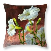 Petunias Delight Throw Pillow