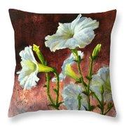 Petunias Delight Throw Pillow
