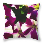 Petunias With A Flare Throw Pillow