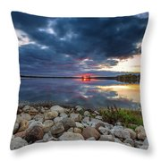 Pewaukee Lake Trail Throw Pillow
