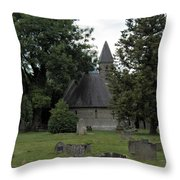 Pewsey Parish Council Cemetary Throw Pillow