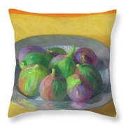 Pewter Plate With Figs Throw Pillow